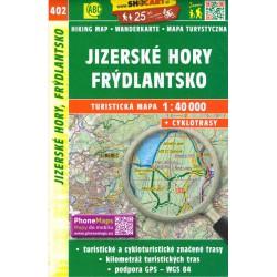 SHOCart 402 Jizerské hory, Frýdlantsko 1:40 000 turistická mapa