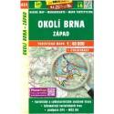 SHOCart 451 Okolí Brna západ 1:40 000 turistická mapa