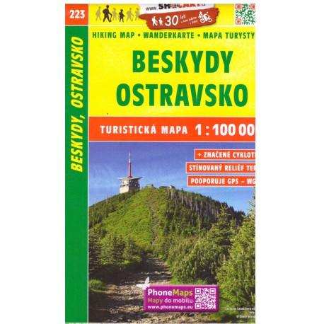 SHOCart 223 Beskydy, Ostravsko 1:100 000