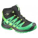 Salomon XA Pro 3D Mid CSWP K black/real green 378430 dětské nepromokavé trekové boty