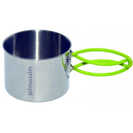 Pinguin Mug Steel 500 ml nerezový hrnek sklopná ucha