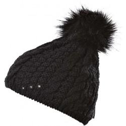 Progress Pompona černá dámská pletená čepice