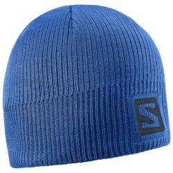 Salomon Logo Beanie blue yonder 390454 unisex pletená čepice