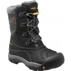 Keen Basin WP K black/gargoyle dětské zimní nepromokavé boty