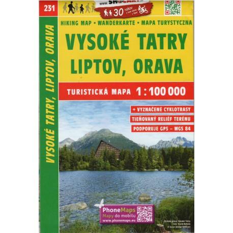 SHOCart 231 Vysoké Tatry, Liptov, Orava 1:100 000