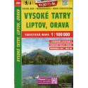 SHOCart 231 Vysoké Tatry, Liptov, Orava 1:100 000 turistická mapa