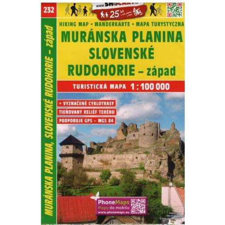 SHOCart 232 Muránska planina, Slovenské Rudohorie - západ 1:100 000