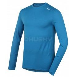 Husky Merino 100 Long Sleeve M modré pánské merino triko dlouhý rukáv