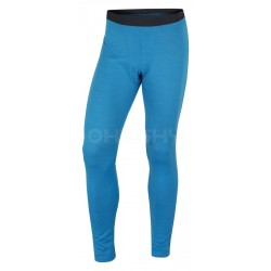 Husky Merino 100 Pants M modré pánské merino spodky