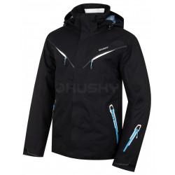 Husky Wender černá pánská nepromokavá zimní lyžařská bunda HuskyTech 20000