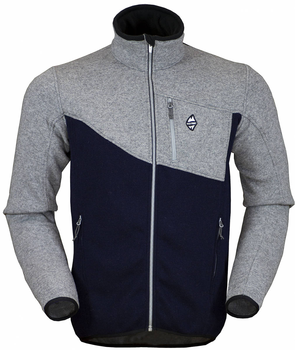High Point Skywool 2.0 Sweater grey dark blue pánský vlněný svetr Tecnowool a650b48be6