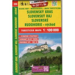 SHOCart 233 Slovenský kras, Slovensý ráj, Slovenské Rudohorie - východ 1:100 000