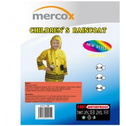 Mercox Kids Bee Yellow dětská zapínací pláštěnka