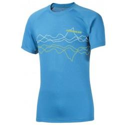 Progress Dry Fast DF NKR Print modrá pánské triko krátký rukáv