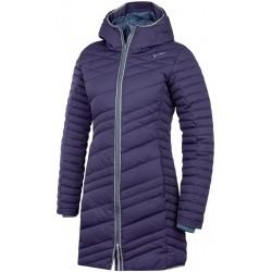 Husky Daili tmavě purpurovrá dámský zimní péřový kabát HuskyTech 7000