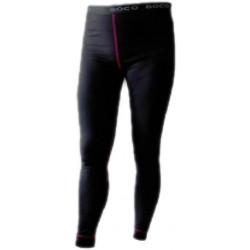 Jitex BoCo Bikala 801 TIS černá/růžová dámské spodky dlouhá nohavice Merino vlna