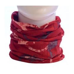 Trekmates Choob Polar Gecko deep red multifunkční šátek