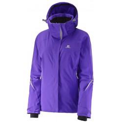Salomon Brilliant Jacket W phlox violet 382639 dámská nepromokavá zimní lyžařská bunda