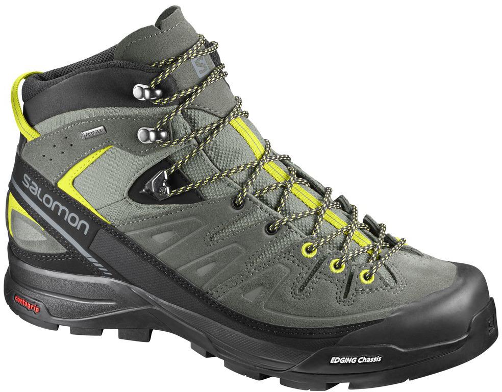 07263d9723e Salomon X Alp Mid LTR GTX shadow lime punch 394723 pánské nepromokavé  kožené trekové boty