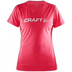 Craft Prime Logo Tee Women berry 1903175 dámské triko krátký rukáv