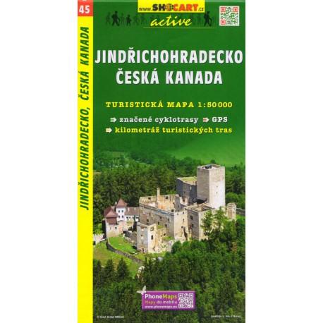 SHOCart 45 Jindřichohradecko, Česká Kanada 1:50 000