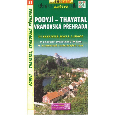 SHOCart 53 Podyjí - Thayatal, Vranovská přehrada 1:50 000