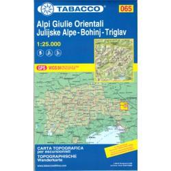 Tabacco 065 Alpi Giulie/Julské Alpy východ - Bohinj - Triglav 1:25 000 turistická mapa