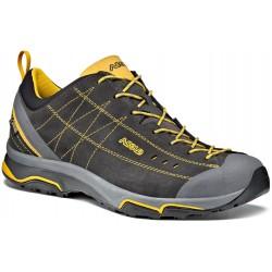 Asolo Nucleon GV MM GTX graphite/yellow pánské nízké nepromokavé kožené boty