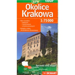 DEMART Okolice Krakowa / Okolí Krakowa 1:75 000 turistická mapa