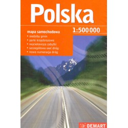 DEMART Polsko 1:500 000 automapa