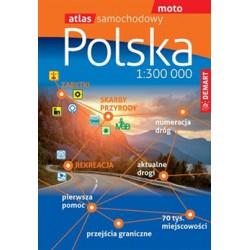DEMART Polsko 1:300 000 autoatlas