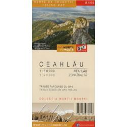 Schubert a Franzke MN09 Ceahlau 1:50 000/1:25 000 turistická mapa