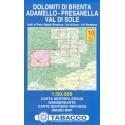Tabacco 10 Dolomiti di Brenta, Adamello - Presanella, Val di Sole 1:50 000 turistická mapa