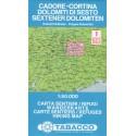 Tabacco 1 Cadore - Cortina, Dolomiti di Sesto/Sextener Dolomiten 1:50 000 turistická mapa