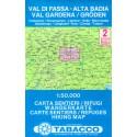 Tabacco 2 Val di Fassa - Alta Badia, Val Gardena/Gröden 1:50 000 turistická mapa