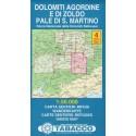 Tabacco 4 Dolomiti Agordine e di Zoldo, Pale di San Martino 1:50 000 turistická mapa