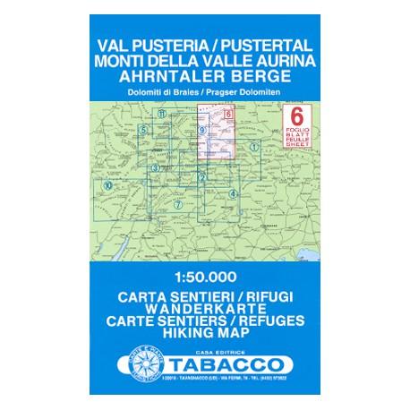 Tabacco 6 Val Pusteria/Pustertal, Monti della Valle Aurina/Ahrntaler Berge 1:50 000