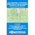 Tabacco 6 Val Pusteria/Pustertal, Monti della Valle Aurina 1:50 000 turistická mapa
