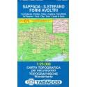 Tabacco 01 Sappada - S. Stefano, Forni Avoltri 1:25 000 turistická mapa