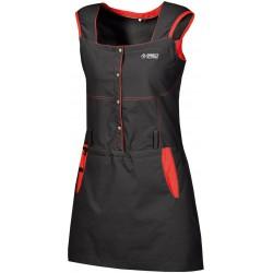 Direct Alpine Iris black/red dámské outdoorové sportovní šaty