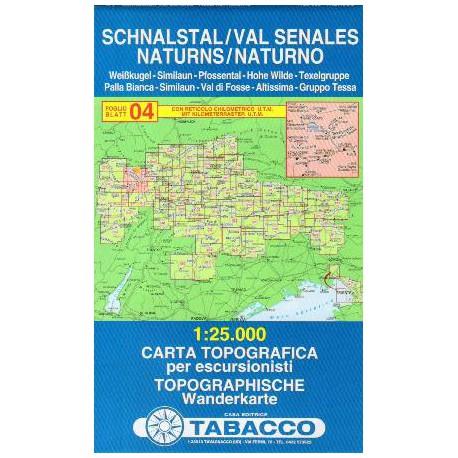 Tabacco 04 Schnalstal/Val Senales, Naturns/Naturno 1:25 000