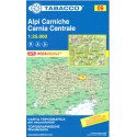 Tabacco 09 Alpi Carniche/Carnia Centrale 1:25 000 turistická mapa