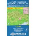 Tabacco 012 Alpago - Cansiglio, Piancavallo - V. Cellina 1:25 000 turistická mapa