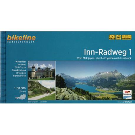 Bikeline Innská cyklostezka 1 (Inn-Radweg) 1:50 000 cykloprůvodce