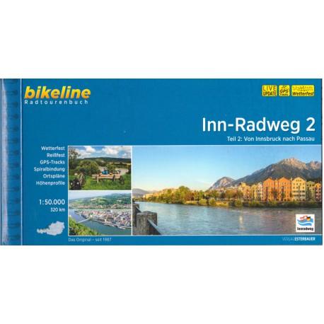 Bikeline Innská cyklostezka 2 (Inn-Radweg) 1:50 000 cykloprůvodce