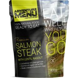 Adventure Menu Steak z lososa s čočkovým ragú 1 porce 400 g sterilované jídlo na cesty