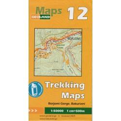 Geoland 12 Rokle Borjomi, Bakuriani 1:50 000 turistická mapa
