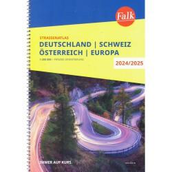 Falk Německo, Rakousko 1:300 000, Švýcarsko 1:301 000 autoatlas