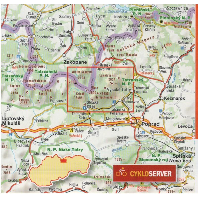Mapa Turisticka Mapa Vysokych Tater