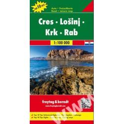 Freytag Cres, Lošinj, Krk, Rab 1:100 000